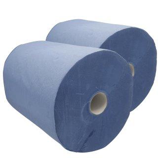 Putztuchrolle Recycling blau